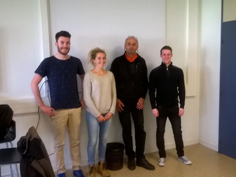 3 jeunes étudiants des STAPS Valence pour la communication de l'édition hiver 2016